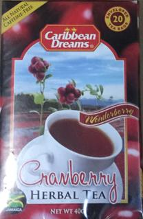 Caribbean Dreams Cranberry Herbal Tea Image