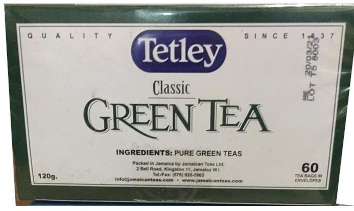 Caribbean Dreams Tetley Classic Green Tea Image